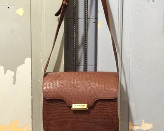 Vintage 90s Sachs Lederwaren Leather Crossbody Sling Bag, Women's Handbag
