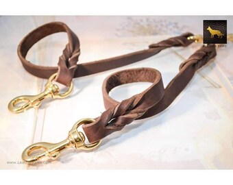 Leather Paws Love Knot Coupler II Leather Leash