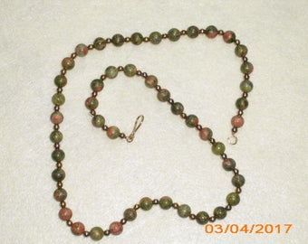Unakite & Seed Bead Necklace