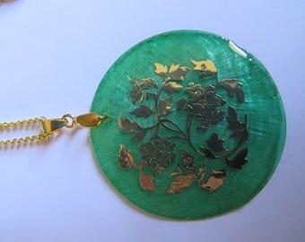 Leaf Disc Necklace