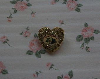 Avocado Glitter Pin