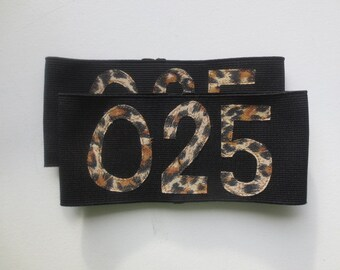 Roller Derby Armbands - Numbered Armbands - Cheetah Print