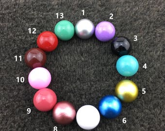 1/6/12 PCS 12mm Round Chime Ball, Harmony Ball Mexico Bola Chime Beads Pendant ,Angel Caller Balls for Pregnancy Mom QY001
