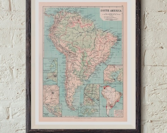 Map Of South America Download Online Maps Printable Instant Download