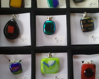 Fused Glass Pendents