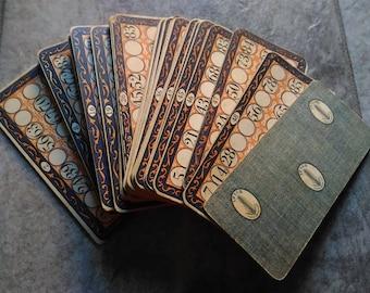 45 VINTAGE bingo cards - TOMBOLA