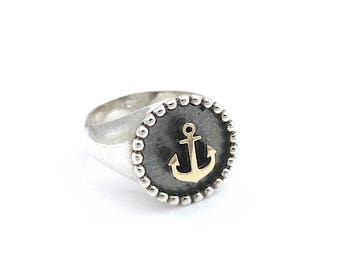silver ring,chevalier ring, pinkie ring.