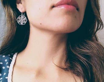 Filigree silver earring - boho earring - oxidize earrings - Mexican silver earring - lace earring - bohemian earring - hippie earring