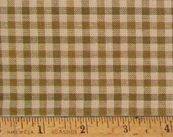 "Maple Brown 3 Homespun Cotton Fabric (Full Yard 36"" x 44"")"