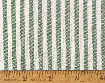 "FQ Granny Green Stripe Homespun Cotton Fabric (Fat Quarter 18"" x 22"")"