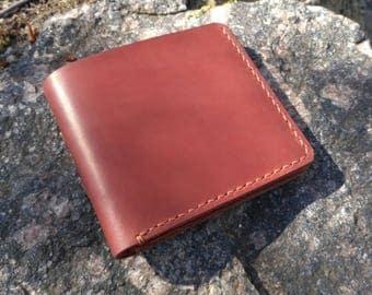 Brown Leather Wallet groomsmen gift mens wallet Minimalist wallet leather billfold Mens gift Boyfriend Gift Personalized Wallet Monogrammed