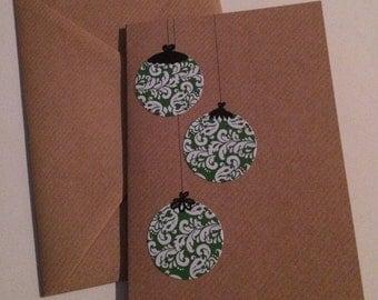 Christmas card with Christmas balls