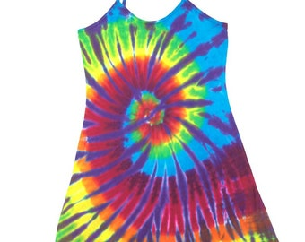 Tie Dye Dress - Spiral Plum