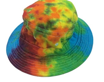 Tie Dye Bucket Hat - Rainbow