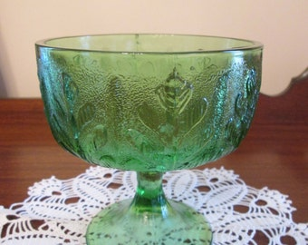 Vintage Candy Dish - Green