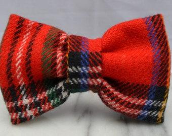 Red Tartan Pre-tied Adult Bow Tie