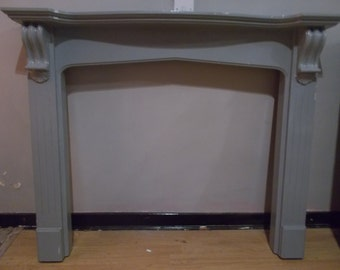 Solid FIRE SURROUND Hand painted grey