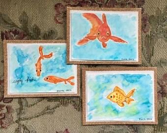 Fish Card Set // Greeting Card - 5 Cards