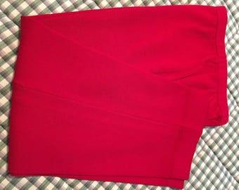 St. John red knit pants, size 6