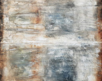 Large Painting Nice Abstract Painting Textured Grey Black Wall Art Fast Shipping