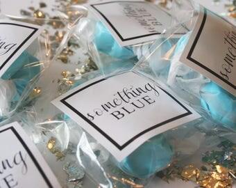 Wedding Favors, Candy Party Favors, Bachelorette Party Favors, Bridal Shower, Party Favors, Something Blue, Bridesmaid Favors, Blue Candy
