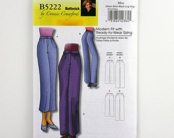Butterick Pattern 5222 Classic Pants, Straight Leg or Tapered Pant, Sizes XS, S, M, L, Xl, Uncut, Easy Sewing Pattern, Custom Fit