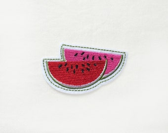 1x watermelon PATCH Iron On Embroidered Patches Applique red pink green summer tropical kawaii fruit