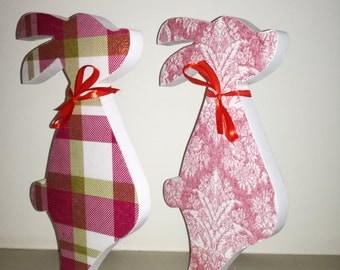 Decorative Free Standing Rabbit- Decoupage