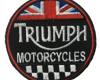 Triumph Motorcycles Embroidered Iron On or Sticker Patch