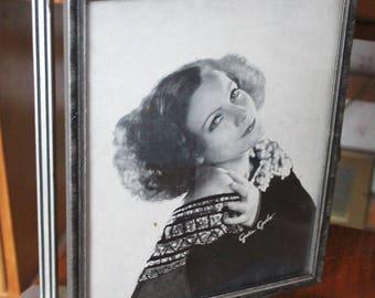 1930's Katharine Hepburn Greta Garbo Framed Pictures