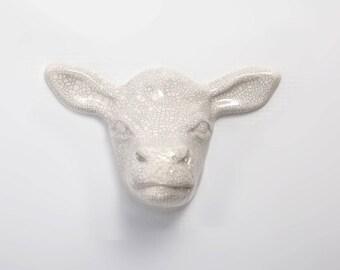 Cow head wall plaque