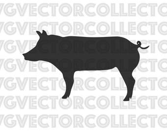 Pig, SVG DXF EPS PnG, Clip Art, Instant Digital Download