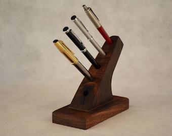 Handmade Solid Walnut Pen Holder