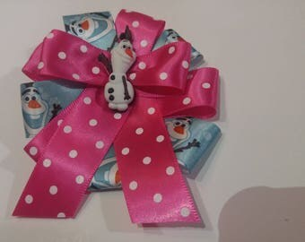 Frozen Olaf Hair Bow Muti Color