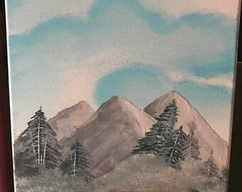 Mountain range canvas