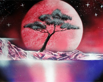 Spray Paint Art picture - Space nature