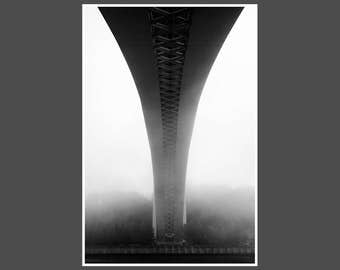 "Poster ""Under the Bridge"" Print Photoprint Photography Black and White FineArt"
