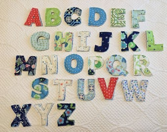 Fabric Alphabet Letters