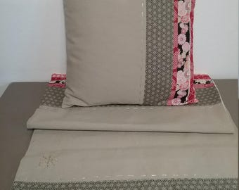 Cushion and matching table runner