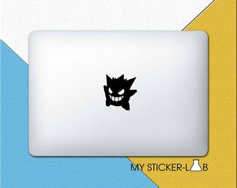 Pokemon Gengar MacBook Decal Gengar MacBook Sticker Gengar Sticker Gengar Decal Pokemon Stickers Pokemon Go Light Up Gengar Apple Logo m910