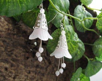 Fantasy fairy rose quartz earrings