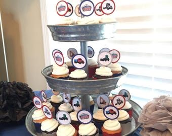 Terrific Trucks Cupcake Toppers