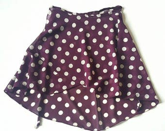 Purple Polkadot Ballet Skirt