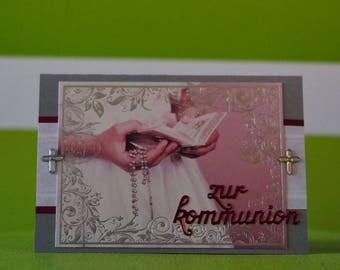Greeting Card - Kommunion - Sacrament - handmade unique piece