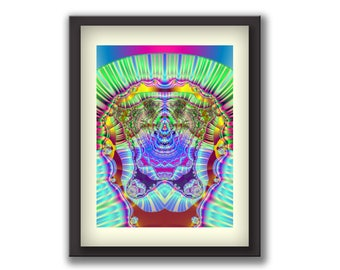 Temple of Prosperity - Feng Shui, Wall art impacting subconsciousness, mandala wall hanging, zen art, feng shui decor, feng shui prints