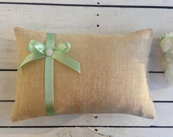 Wedding kneeling pillows,burlap kneeling pillows