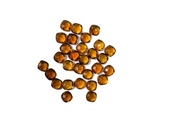 AAA Quality Natural BEER QUARTZ Cushion Shape Checker Cutting 6 mm, Loose Faceted GemstoneFinestPolish/5 pcs.