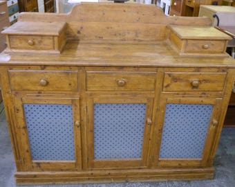 Second Hand Handmade Farmhouse Rustic Recycled Timber Buffet Sideboard Storage Reclaimed Cabinet