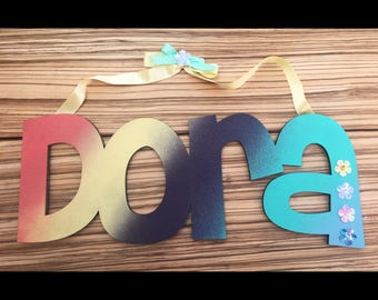 Custom Wall Decor, Wooden name sign, Custom Children's Wall Names, Personalised Signs and Letters. Kids wall decor names