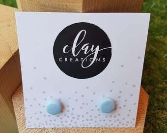 Circle Earrings - Baby Smurf